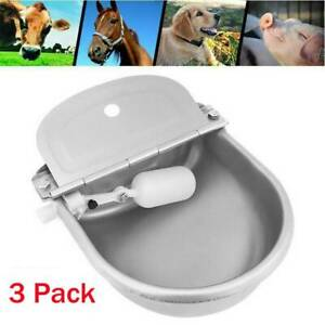 3x Automatic Cattle Waterer Stainless Steel Stock Water Bowl Horse Sheep W float