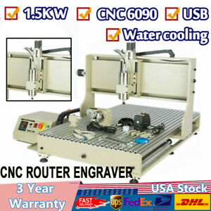4axis 6090 Cnc 1 5kw Engraving Cutting Drilling 3d Mill Carver Machine Usb Port
