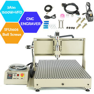 Cnc 6090 3 4axis Router Engraver 1 5 2 2kw Vfd Wood Metal Engraving Mill Machine