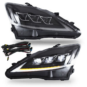 Clear Full Led Headlights For 2006 2013 Lexus Is250 Sedan Front Lights Assembly