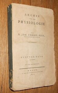 1802 Antique Medical Book Archiv F R Die Physiologie W 4 Anatomy Plates