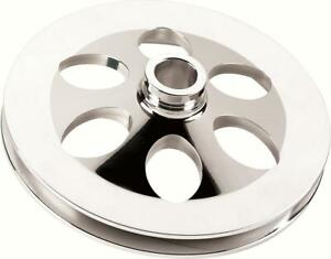 Billet Spec Power Steering Pulley V belt 1 groove Aluminum 750 Bore Chevy Ea