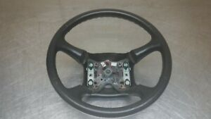 Chevrolet Gmc Tahoe Suburban Yukon Steering Wheel 98 02 Black Leather