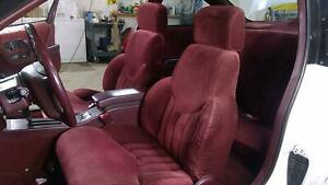 94 96 Oldsmobile Cutlass 2dr Cloth Seat Set Front Rear Ruby Red 79i