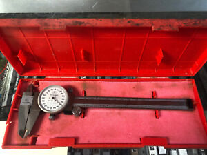 Mitutoyo Dial Calipers 0 6 001 Shock Proof Made In Japan With Plastic Case