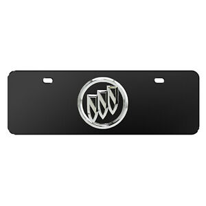 Buick 3d Chrome Metal Logo Black 12 X4 Half Size Stainless Steel License Plate