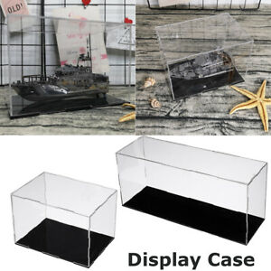 Acrylic Display Case Box Self assembly Protection Clear Transparent Dustproof