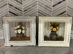 Flower 3d Shadowbox Pictures Rustic Shabby Chic Picture Frames