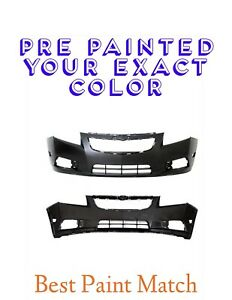New Pre Painted Front Bumper Cover For 2011 2016 Chevy Cruze W Free Touchup