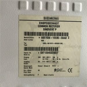 Used Siemens 250kw Rectifier Feedback Unit 6se7036 1ee85 0aa0