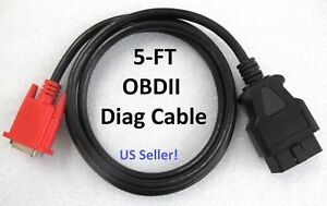 Obd2 Obdii Cable For Launch X431 Creader Crp909 909 X 909 E 909 C Scan Tool