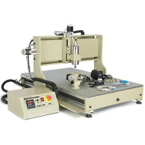4 Axis Cnc 6090 Router Engraver Wood Carving Mill Machine 2200w With Usb rc