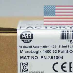Allen bradley Micrologix1400 32point 120v Ac Controller 1766 l32awaa Us In Stock