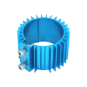 L 66mm Heat Sink Cover Universal Blue Billet Aluminum Engine Oil Filter Cooler