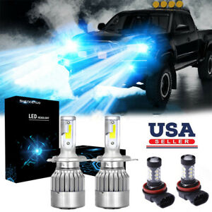 For Toyota Tacoma 2012 2015 Led 8000k Headlight Dual High low Fog Light 4x Bulbs