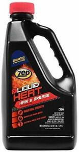 Zep Liquid Heat Hair And Grease Clog Dissolver Gel 64 Ounce Zulhg64 case Of 6