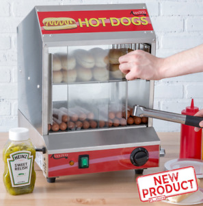 Hot Dog Steamer Warmer Machine W Indicator Light Food Bun Commercial Electric