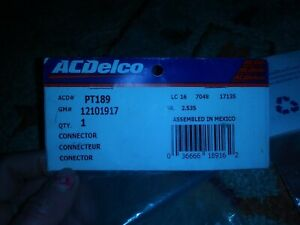 Pt189 Ac Delco Fog Light Connector New For Chevy Olds Le Sabre 61 Special Savana