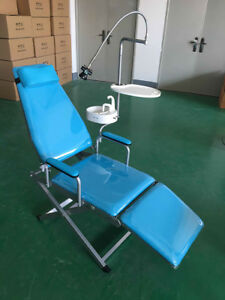 Dental Portable Mobile Chair Folding Chair Stool Equipment tray water Basin Ups