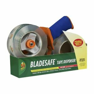 Duck Brand Bladesafe Tape Gun Dispenser With 2 roll Pack Of 109 yard Tape