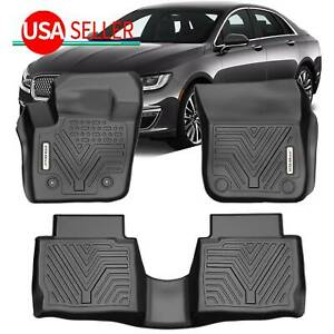 All Weather Floor Mats For 2013 2016 Ford Fusion Lincoln Mkz Rubber Black Set