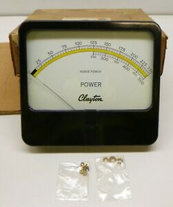Vintage Clayton Simpson D 6822 Horsepower Power Meter Panel Mount Nos