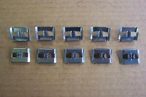 1956 Ford Customline Mainline Side Molding Clips 10 New 56