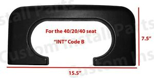 Center Console Cup Holder Replacement Pad Black Fits Ford F250 F350 1999 2010