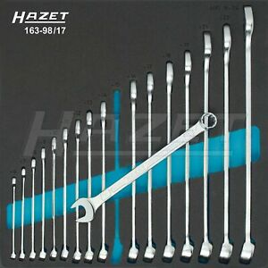 Hazet 17 Piece Metric 12 Point Angled Head Combination Wrench Set