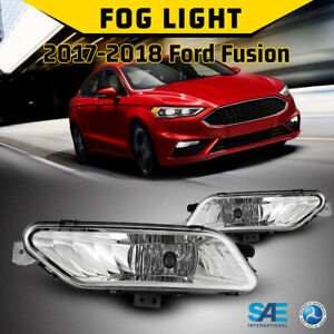 For 17 18 Ford Fusion Fog Lights Bumper Car Lamp 1 Pair Replacement Clear Lens