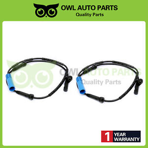 Set Of 2 Abs Wheel Speed Sensor Rear Right And Left For Mini Cooper 2002 2008