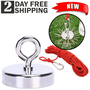 Fishing Magnet Kit Upto 400 Lbs Pull Force Strong Neodymium Rope Carabiner