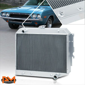 For 68 73 Charger challenger coronet V8 Aluminum 3 row Tri Core Cooling Radiator
