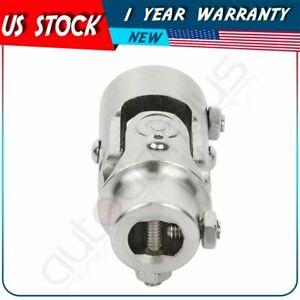 Single Universal Steering Chrome U Joint Shaft 1 Dd X 3 4 Dd Stainless Steel