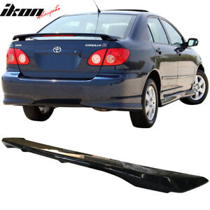 Fits 03 08 Toyota Corolla Oe Factory Glossy Black Trunk Spoiler