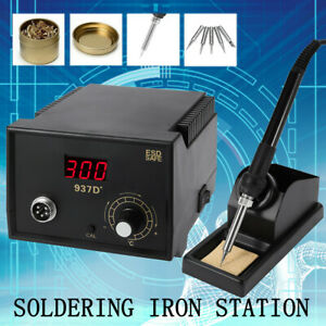 Soldering Station Jp Heater Iron Welding Solder Smd Tool 5 Tips Stand Esd 937d