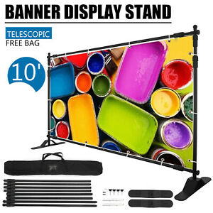 Step And Repeat 10x8 Banner Stand Adjustable Telescopic Trade Show Backdrop