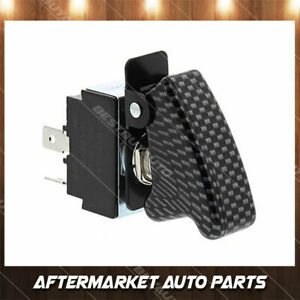 Universal 12 Volt Toggle Switch With Carbon Fiber Look Safety Cover