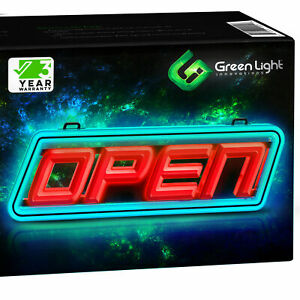 Super Bright Led Open Sign Stand Out With Ultra Bright Smd Leds In Vibrant Red