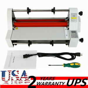 Thermal Laminating Machine V350 350mm Hot Cold Roll Laminator 4 Rollers Us