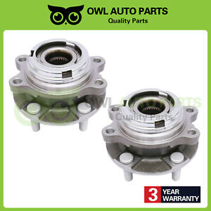 2 Front Wheel Bearing Hub For 2003 2004 2005 2006 2007 Nissan Murano Quest 3 5l