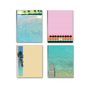 Tropical Water And Beach Theme To do list Writing Pads 4 Assorted Pads 669