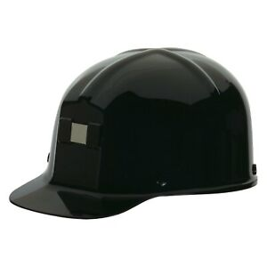 Comfo cap 6 1 2 To 8 Polycarbonate Black Cap Style Hard Hat With 4 Point