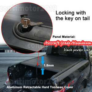 Retractable Bed Hard Tonneau Cover Roll Up For Ford F 150 5 5ft 2010 2020 Black