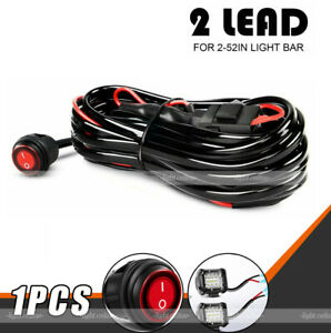 Led Work Light Bar Wiring Harness On Off Switch Kit Offroad 12v 40a Car Offroad