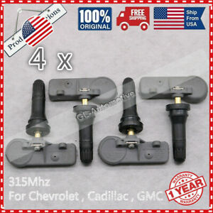 315 Mhz Set Of 4 13581558 Tpms Tire Pressure Sensors New For Gm Chevy Gmc