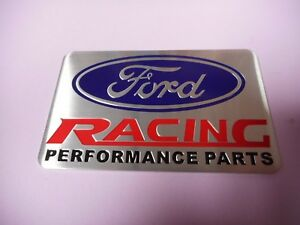 New Ford Racing Performance Parts Emblem Plaque Metal