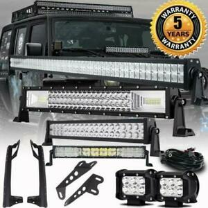 52 700w Led Light Bar 22 1440w 2x 4 Pods Mount Bracket For Jeep Wrangler Jk