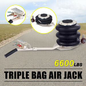 3 Ton 6600lbs Lifts Triple Stage Bag Air Go Jack Frame Alignment Car Truck Shop