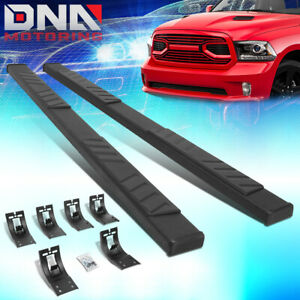 For 2009 2020 Dodge Ram Truck 5 Black Crew Cab Flat Running Boards Step Bar